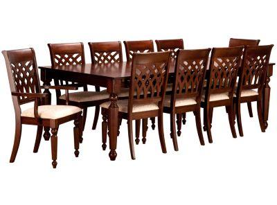 juego de comedor extensible odessa 8 sillas 2 sitiales
