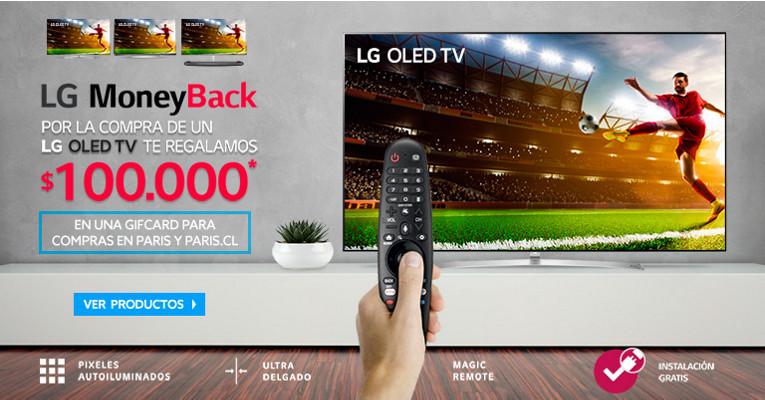 Regalo GifCard $100.000 por compras en LG Oled TV