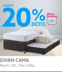 Hasta 20%descuento con TMAS en Divan cama