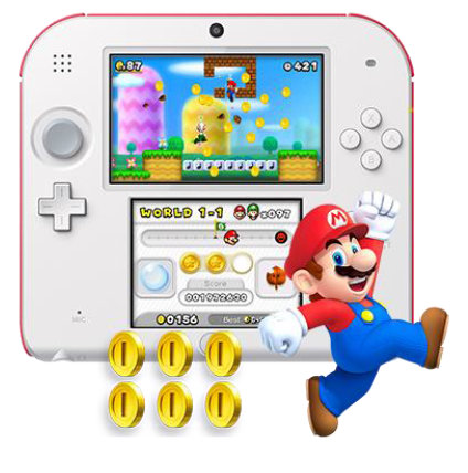 Consola Nintendo 2ds Rojo Juego New Super Mario Bros 2 Consolas