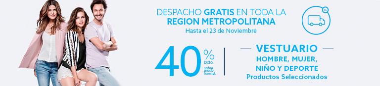 DESPACHO GRATIS TODA REGION METROPOLITANA